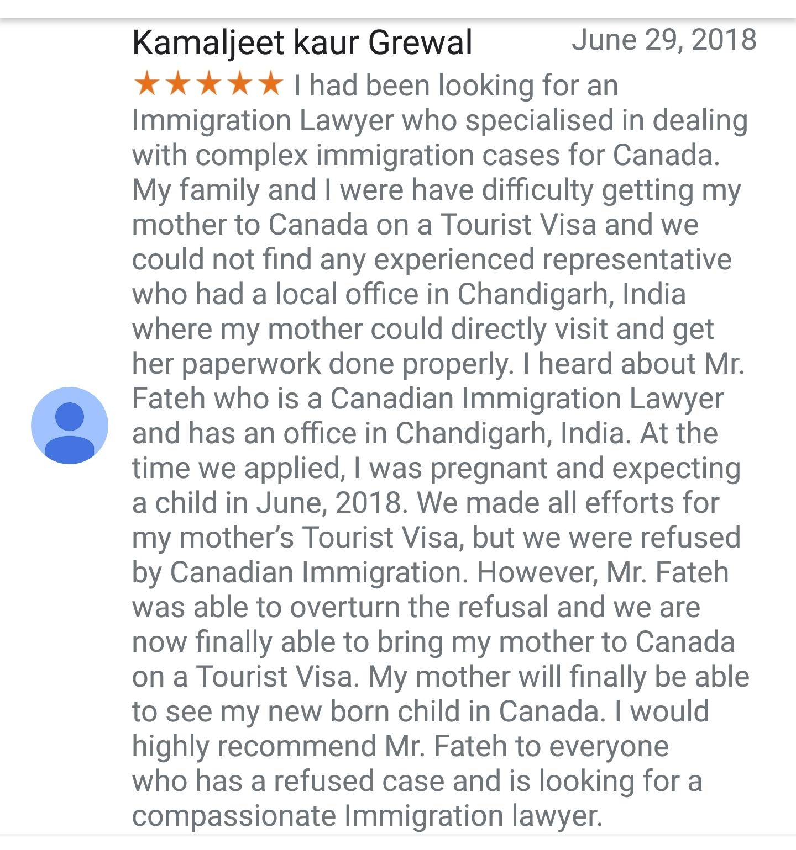 Navratan Fateh - Temporary Resident Visa - Review